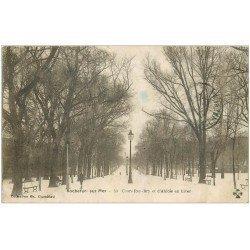 carte postale ancienne 17 ROCHEFORT-SUR-MER. Cours Roy-Bry et d'Ablois 1919