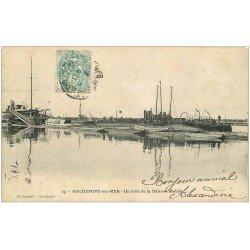 carte postale ancienne 17 ROCHEFORT-SUR-MER. La Défense Mobile 1904