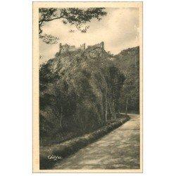 carte postale ancienne 03 CHOUVIGNY. Château Rocher Gorges de la Sioule