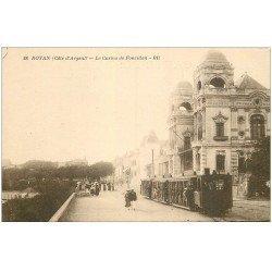 carte postale ancienne 17 ROCHEFORT-SUR-MER. Le Casino de Foncillon Train Tramway à vapeur