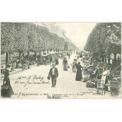 carte postale ancienne 17 ROCHEFORT-SUR-MER. Le Marché rue de l'Arsenal 1903