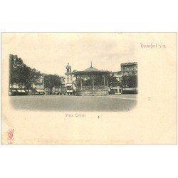 carte postale ancienne 17 ROCHEFORT-SUR-MER. Place Colbert. Carte pionnière vers 1900 (défaut)...