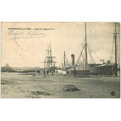 carte postale ancienne 17 ROCHEFORT-SUR-MER. Quai du Bassin n°3 vers 1909