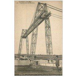 carte postale ancienne 17 ROCHEFORT-SUR-MER. Transbordeur de Martrou 1910