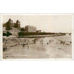 carte postale ancienne 17 ROYAN. Carte Photo. La Plage 1938