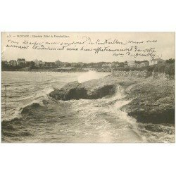 carte postale ancienne 17 ROYAN. Grosse Mer à Pontaillac 1903