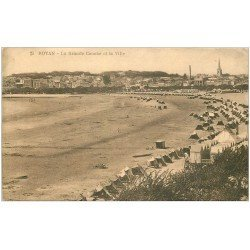 carte postale ancienne 17 ROYAN. La Grande Conche et la Ville 1930