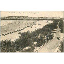 carte postale ancienne 17 ROYAN. La Plage. Petit Train Tramway à vapeur n°3