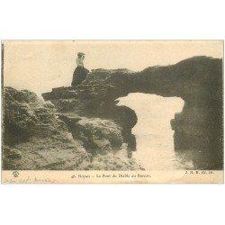 carte postale ancienne 17 ROYAN. Le Pont du Diable au Bureau 1904