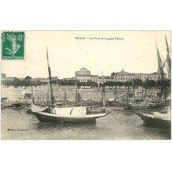 carte postale ancienne 17 ROYAN. Le Port et Façade Thiers 1910