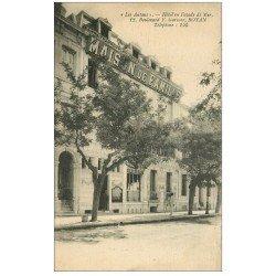 carte postale ancienne 17 ROYAN. Les Autans. Hôtel 12 Boulevard Garnier. Carte Publicitaire