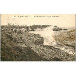 carte postale ancienne 17 ROYAN-LE CHAY. Corniche du Pigeonnier 1934