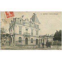 carte postale ancienne 17 SAINTES. Caisse d'Epargne 1909