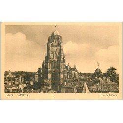 carte postale ancienne 17 SAINTES. La Cathédrale