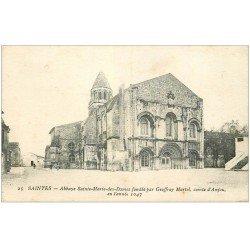 carte postale ancienne 17 SAINTES. L'Abbaye des Dames
