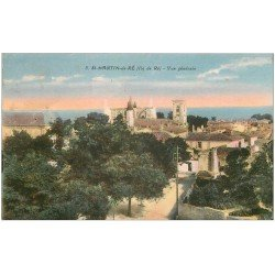 carte postale ancienne 17 SAINT-MARTIN-DE-RE. Vue générale 1948