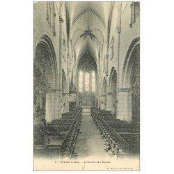 carte postale ancienne 18 AUBIGNY. Intérieur de l'Eglise