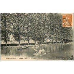 carte postale ancienne 18 BANNAY. La Buissonnière 1929. Canotage