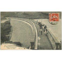 carte postale ancienne 03 COMMENTRY. Pêcheurs sur le Barrage 1914