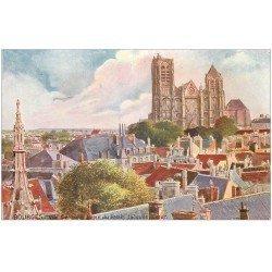 """carte postale ancienne 18 BOURGES. Cathédrale vue du Palais Jacques-Coeur. Edition """""""" Tuck """""""""""