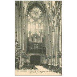 carte postale ancienne 18 BOURGES. Cathédrale. Les Grandes Orgues et Rosace