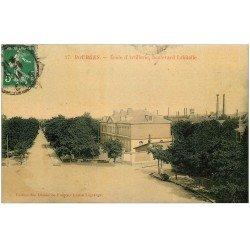 carte postale ancienne 18 BOURGES. Ecole d'Artillerie Boulevard Lahitolle 1914. Edition Dames de France