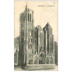 carte postale ancienne 18 BOURGES. La Cathédrale 1907