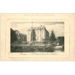 carte postale ancienne 18 BOURGES. L'Archevêché et les Jardins. Tampon Militaire du 95° Régiment