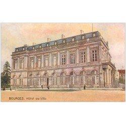 """carte postale ancienne 18 BOURGES. L'Hôtel de Ville. Edition """""""" Tuck """""""""""