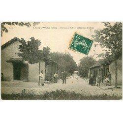 carte postale ancienne 18 CAMP D'AVORD. Bureau de Tabacs et de Poste 1908