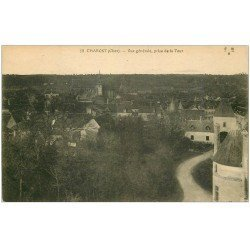 carte postale ancienne 18 CHAROST. Vue prise de la Tour vers 1919