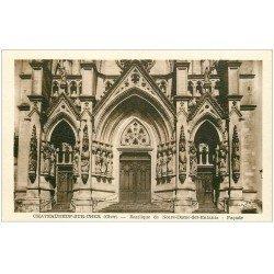 carte postale ancienne 18 CHATEAUNEUF-SUR-CHER. Basilique N.D des Enfants Façade