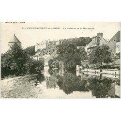 carte postale ancienne 18 CHATEAUNEUF-SUR-CHER. Château et Déversoir 1926