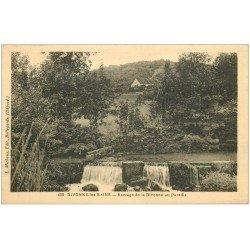 carte postale ancienne 01 Divonne-les-Bains. Barrage au Paradis 1933