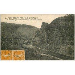 carte postale ancienne 19 Autres. Les Gorges de la Dordogne près du Chambon 1922
