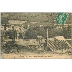 carte postale ancienne 19 BORT. Usines Saint-Jacques 1913