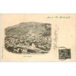 carte postale ancienne 19 BORT. Vue général. Timbre 1 centime 1901