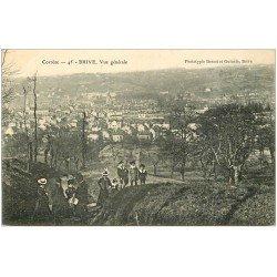 carte postale ancienne 19 BRIVE. Vue générale 1908. Elégantes et écoliers