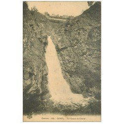 carte postale ancienne 19 GIMEL Cascades. La Queue de Cheval