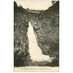 carte postale ancienne 19 GIMEL Cascades. La Queue de Cheval 130