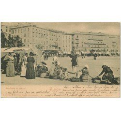 carte postale ancienne 20 AJACCIO. Vendeuses au Marché 1902. Edition Guittard 27 Cours Granval Ajaccio
