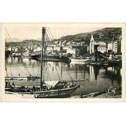 carte postale ancienne 20 BASTIA. Le Port avec Bateaux de Pêche. Carte Photo 106