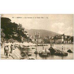 carte postale ancienne 20 BASTIA. Rochers et Vieille Ville