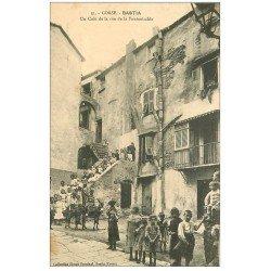 carte postale ancienne 20 BASTIA. Un Coin de la rue de la Fontanicchia. Vers 1908 impeccable et vierge