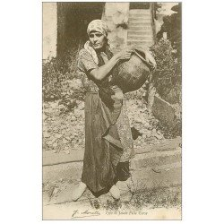 carte postale ancienne 20 CORSE. Bastia. Types de Jeune Fille Corse porteuse d'eau