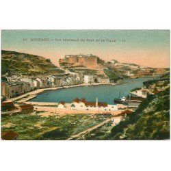 carte postale ancienne 20 CORSE. Bonifacio. Le Port et la Ville