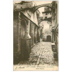 carte postale ancienne 20 CORSE. Bonifacio. Les Arcades Sainte-Majeure