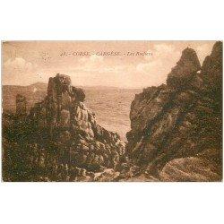 carte postale ancienne 20 CORSE. Cargèse. Les Rochers