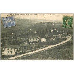 carte postale ancienne 01 Don. Usines et Château 1933