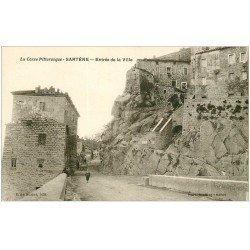 carte postale ancienne 20 CORSE. Sartène. Entrée de la Ville vers 1928